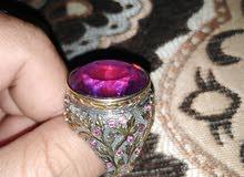 mystic purple quartz, Bahrain silver 925 with  gold rhodium & black rhodium