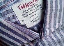 قميص بدله جديد ماركه  T.M.Lewin مقاس 16 لارج   القابله فى حدائق الاهرام     ( ان