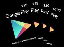 بطاقات جوجل بلاي و شدات ببجي جميع الفئات Google play