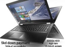 lenovo laptop for installment 5kd down payment