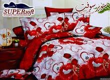 طقم ملاية سرير كبير واطفال على شكل قلوب
