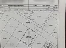 للبيع ارض سكنية في محيصنة الثالثة مقابل المسجد والحديقة مساحة الارض 15000