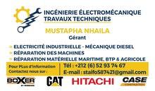 خدمات تقنية صيانة واصلاح الات ومعدات مهمية واشغال عامة