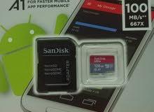 ذاكرة سانديسك 128GB (اصلي) الترا كلاس 10 U1 سرعة نقل 100mb
