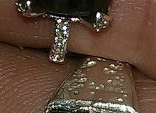 خاتم فضة به حجر كريم طبيعي اصلي