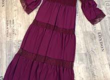 فستان غجري كلوشه خامه تركية