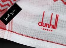 شماغ دنهل الأصلي صناعة سويسرية احمر وابيض وجميع المقاسات