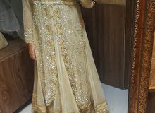 Champagne color poofy beautiful dress