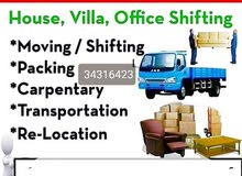 HOUSE MOVER PACKERHouse,Villas'Office shifting .....Transport Resp