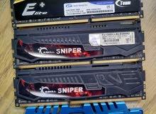 رامات 4 قطع G.skill باص 1600 4 جيجا DDR3