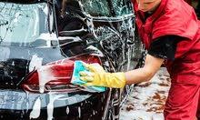 مطلوب عامل نظافة خبرة بتنظيف السيارات والبولش