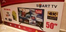 تلفزيون ستار سات  حجم 55 انش جديد ضمان سنه