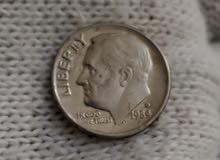 عملات امريكية متنوعة، واحد دايم وخمسة سنت وكورارتر دولار ومجموعة سنتات حوالي 15