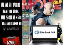 HP ELITEBOOK 745 G4/ جيل ثامن + رمات 16 جيجا DDR4. ب2هارد SSD خصم خاص للكميات )