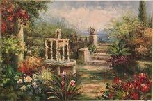 لوحة زبتية منظر طبيعي