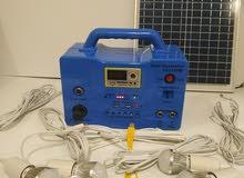 ليتات طاقة شمسية وشاحن جوالات مع راديو
