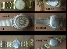 ساعات اصلية مستعملة رجالي وستاتي لعدة ماركات عالمية وكذلك يوجد ساعات صينية مستعملة نخب