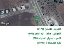 ارض تجاري عشارع عمان إربد الرئيسي واجهة (35) متر عالشارع مقابل الهابي لاند للبيع من المالك