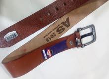 حزام جلد طبيعي 100%