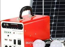 الطاقة الشمسية انارة وشاحن جوال و راديو