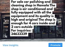 For sale car cleaning and polishing shop in Hamala