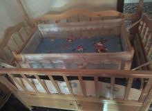 سرير بيبي اطفال...وعرباي اطفال جديدة