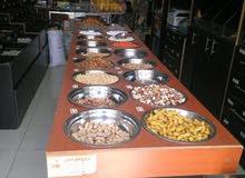 اثاث محمص و محل عطارة كامل للبيع + ماكنات طحن قهوة للتواصل 0791315712