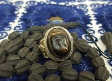 خاتم بحجر عقيق في غاية الجمال