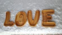 صحن تقديم خشبي L.O.V.E