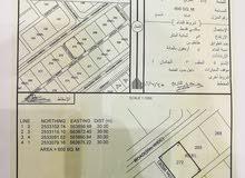 ارض سكنية للبيع المبلغ 15,500 قابل لتفاوض