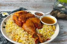 نص دجاج مع برياني فقط 15 درهم