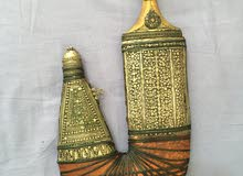Authentic Yemeni Khenger from Pure Silver and Natural Leather