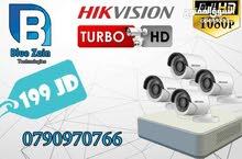 4 كاميرات مراقبهHIKvision شامل التركيب