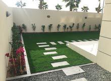 garden pool landscaping  artificial grass