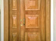 باب رئيسي 220*120 خشب موقن درجة أولى