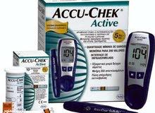 accu-chek جهاز قياس السكر في الدم  شبه جديد
