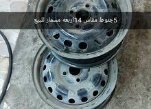 جنوط للبيع اربعه مسمار مقاس 14