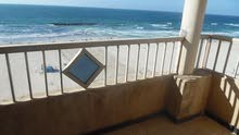 شقة اول نمرة  علي البحر بالفرش قسط في شاطئ النخيل