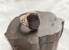 خاتم بحجر جلد حية