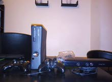 Xbox 360 Slim معدل + kinect
