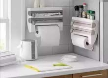 منظم ثلاثي لرولات المطبخ