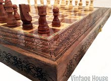 طاولة زهر و رقعة شطرنج فخمة