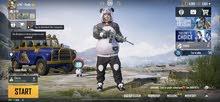 Pubg Conqueror account with M4 glacier and Akm Hellfire