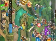 حساب  lords mobile به كثير من الماس الكثير من الموارد والعناصر المخزنة