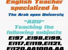 مدرس لغه انجليزيه  للمقرارات الجامعيه 67603027