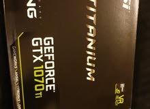 للبيع كرت شاشة MSI GTX 1070ti شبه جديد