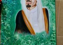 الي يبي ارسم له لوحات للملك سلمان حياه
