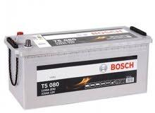 بطارية المانية Bosch شبه جديدة 225a يمكن استعمالها مع الانفيرتر