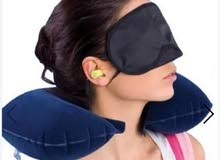 Generic Travel Set - 3 Pcs - Earplug, Eye Shade & Neck Pillow