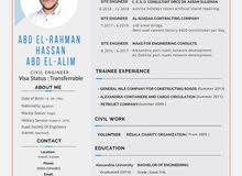 مهندس مدني دفعة 2014 جامعة الإسكندرية يبحث عن عمل.